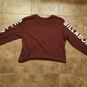 Billabong bong size medium long sleeve crop top